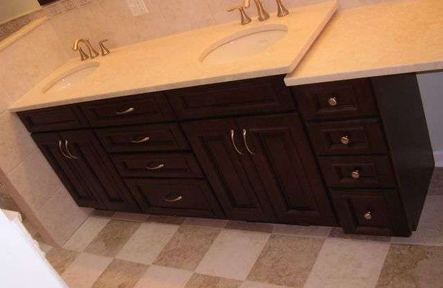 Bathroom, Floor Tile, Cabinets and Full Remodeling